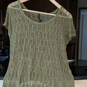 Absolutely creative worldwide green knitted top